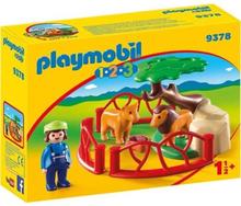 PLAYMOBIL 1 2 3 9378 - PLAYMOBIL 1.2.3 - Lions med kapsling - Nytt för 2019