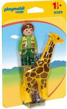 Playmobil 1 2 3 9380 - Playmobil 1.2.3 - Healer med giraff - Nyt i 2019