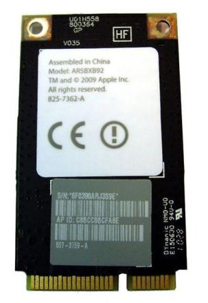 Atheros Apple Imac A1312 A1311 21,5 27 i Wifi Airport-kortet 825-73...