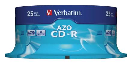 Verbatim Cd-r 25pk 48 x 80 minutters Super Azo spindel