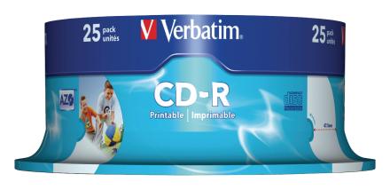 Verbatim Vb-crd19s2 Pa Ð Cd-rw Virgin (cd-r, 700 Mb, 25 Pc (s), 120...