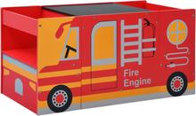 vidaXL Barnbord och stolar 3 delar brandbil trä