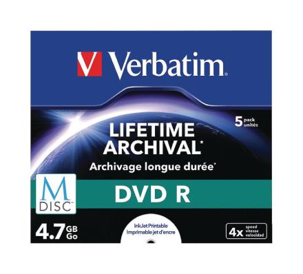 Ordret 43821 M-disc 4 x Dvd-r - 5 Pack Jewel Case
