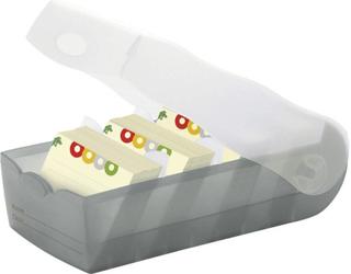 HAN Kartotekkasser CROCO Grå, Translucent 997-693 max. antal kort: 900 kort A7 tværformat inkl. 100 linjerede kort