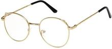 Anti Blue Light-Briller, Katteører - Guld