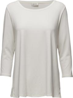 Cilla Top Ashape3/4slv Basic Langærmet T-shirt Hvid Masai