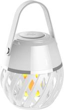 FLAMMELAMPE LED HELIOS, HOMELINE HVIT