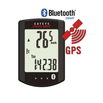 CatEye Strada Smart CC-RD500B Navigationsudstyr sort 2018 GPS apparater