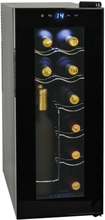 vidaXL Vinkyl med LCD-display 12 flaskor 35 L