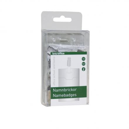 Navneskilte t/ID 60x90mm blød plast stående format 10stk/pak
