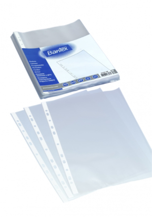 Plastlomme Bantex A4 0,04mm præget 100stk/pak - Engsig.dk