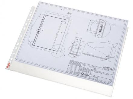 Plastlomme Esselte A3 0,085mm hul kort side premium 10stk/pak - Engsig.dk