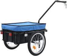 vidaXL Cykelvagnhandkärra 155x61x83 cm stål blå