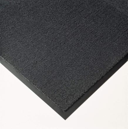 Måtte Solett 90x150cm 8mm m/kantliste PP/vinyl grå