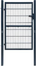 2D hageport (enkel) antrasitt grå - 106 x 210 cm