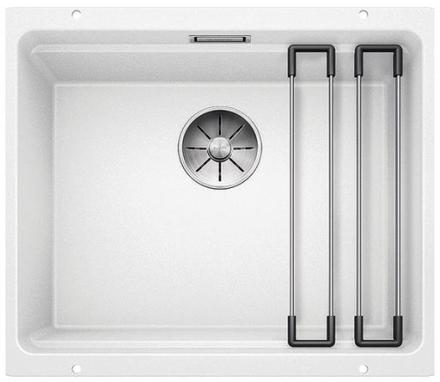 Blanco Etagon 500-U UXI Køkkenvask 53x46 cm m/InFino kurveventil, Silgranit, Hvid