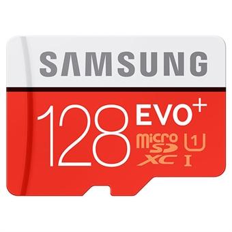 128GB Samsung EVO Plus MicroSDXC 80mb/s Class 10 UHS-I, MB-MC128DA