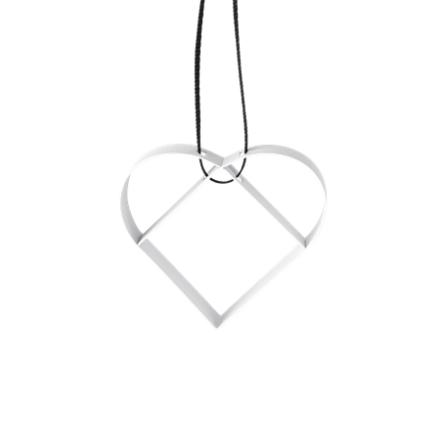 Stelton Figura ornament, hjerte, liten soft white 5cm