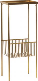 HÜBSCH konsolbord gulfarvet metal, m. hylde (43x30)