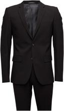 Plain Mens Suit Kostym Svart Lindbergh