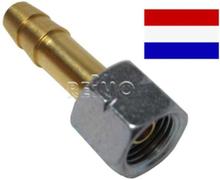 Tilkobling gassutstyr overgangstykke mutter 1/4 venstre+9 mm