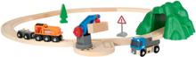 BRIO Lift & Load 33878 Startset med lyftkran och lastsats