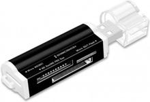 Minneskortläsare Micro SD MMC SDHC TF M2 - Svart