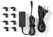 Nedis Notebookadapter   Universell med 8 kontakter   45 W   Uteffekt 9.5 V-20 V/3 A (max.)