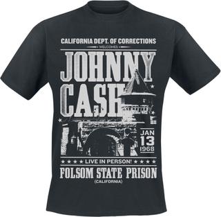 Johnny Cash - Folsom State Prison -T-skjorte - svart