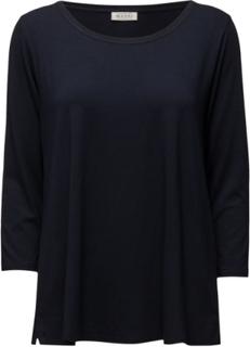Cilla Top Ashape3/4slv Basic Langærmet T-shirt Blå Masai