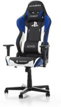 RACING - PlayStation Krzes?o gamingowe - Czarno-niebieski - Skóra PU - 100 kg