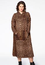 Dress hooded LEOPARD 54/56 brown
