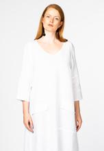 Dress A-line pockets linen 50/52 (50/52) white (201)