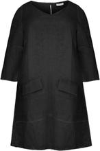 Dress A-line pockets linen 42/44 (42/44) black (210)