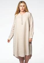 Dress beaded neck LINEN 42/44 (42/44) brown (280)
