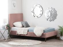 Beliani Säng 90 x 200 cm rosa BAYONNE