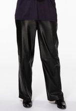 Trousers wide leather 50/52 black