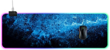Hiirimatto LED-valaistuksella 90 x 30 x 0.4cm Sininen/Musta