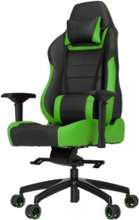 P-Line PL6000 Racing Series Krzes?o gamingowe - Czarno-zielony - Skóra PU - Do 200 kg