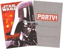 Inbjudningskort Stjärnornas krig / Star Wars - 6 st