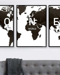 verdenskort sort