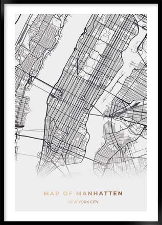 New York manhatten kort