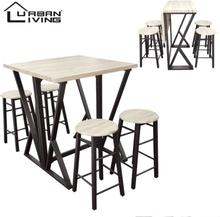 Urban Living Inklapbare Bartafel met 4 Barstoelen