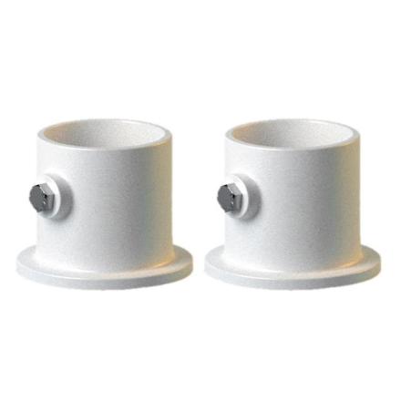 """PermaCast PF2119BS 1,9"""" dekk stigen aluminium flens - hvitt sett med 2"""
