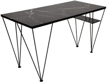 Cube Skrivbord - Glas/svart