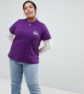 ASOS DESIGN X glaad& Spirit Day - Curve - T-shirt - Lila