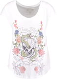True Religion CREW FLOWER Tshirt med tryck weiss