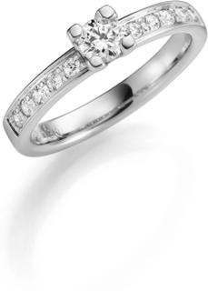 Vigselring 18k vitguld Himla 0,45 ct Diamant - 49 - 49