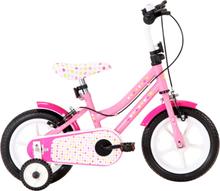 vidaXL Barncykel 12 tum vit och rosa