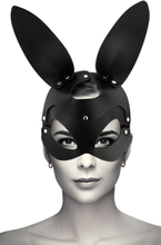Vegan Leather Mask With Bunny Ears
